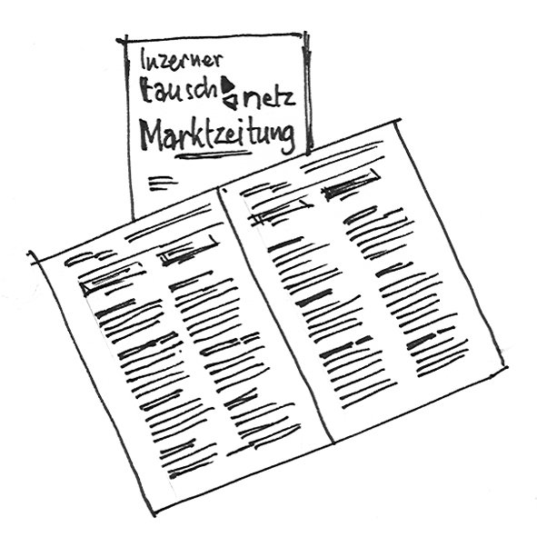 Illustration Marktzeitung
