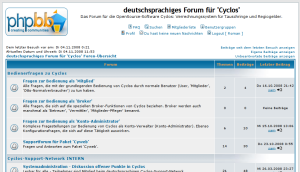 Screenshot Cyclos-Forum